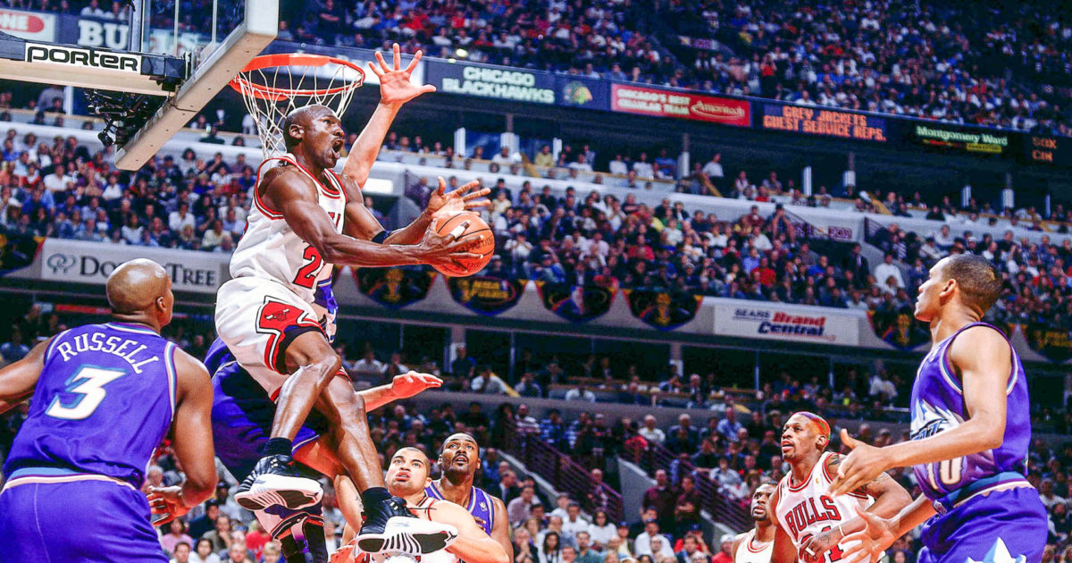 Michael Jordan Reverse No Look Against Utah Jazz Finals