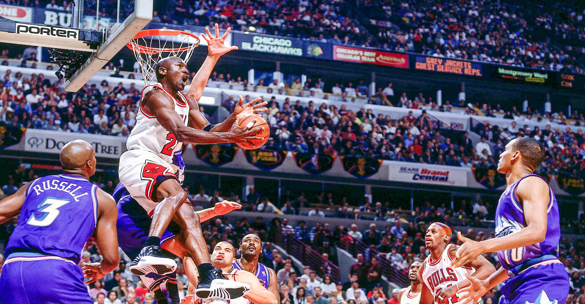 Michael Jordan Reverse No Look Against Utah Jazz Finals