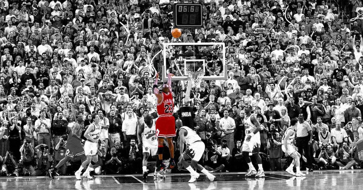 """Michael Jordan """"The Last Shot"""" Game Winner"""